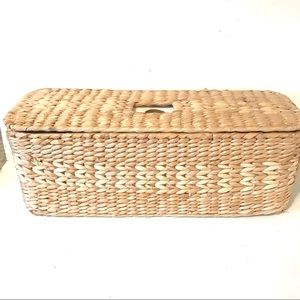 Wicker Multipurpose Storage Basket Rectangular